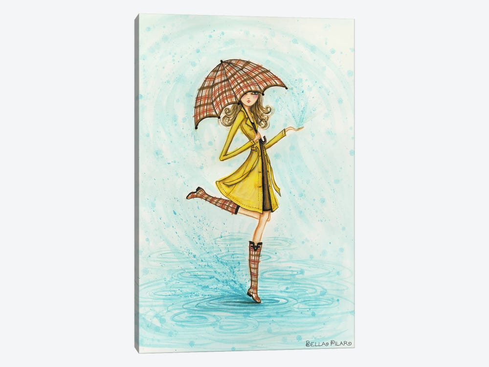 Raindrops by Bella Pilar 1-piece Canvas Artwork