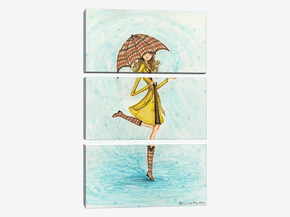 Raindrops by Bella Pilar 3-piece Canvas Wall Art