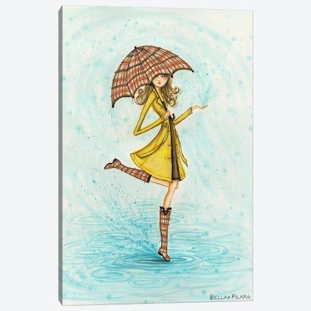 Raindrops Canvas Print #BPR6} by Bella Pilar Canvas Art