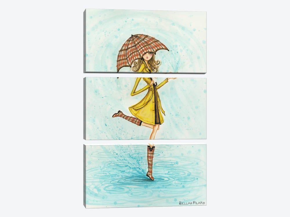 Raindrops by Bella Pilar 3-piece Canvas Wall Art