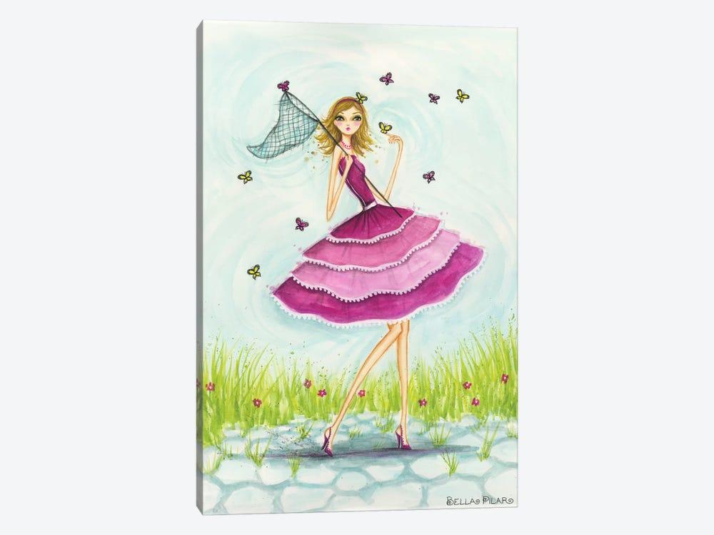 Butterfly Catch by Bella Pilar 1-piece Art Print