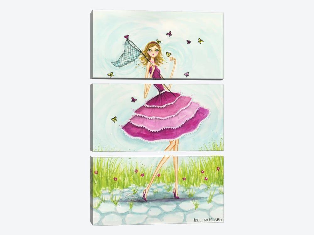 Butterfly Catch by Bella Pilar 3-piece Art Print