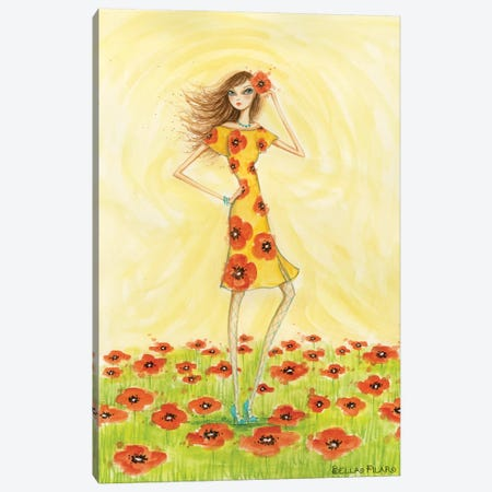Garden Girls: Poppy Canvas Print #BPR72} by Bella Pilar Canvas Print