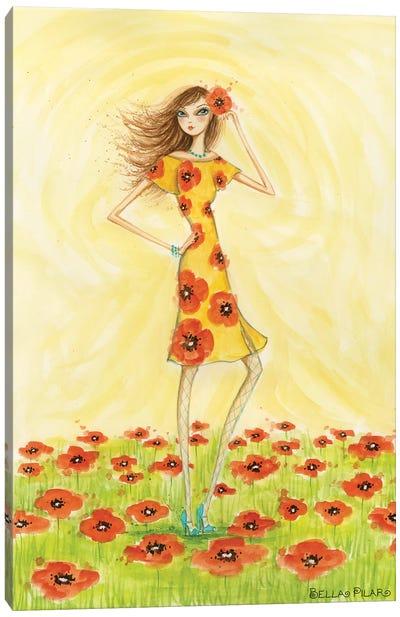 Garden Girls: Poppy Canvas Print #BPR72