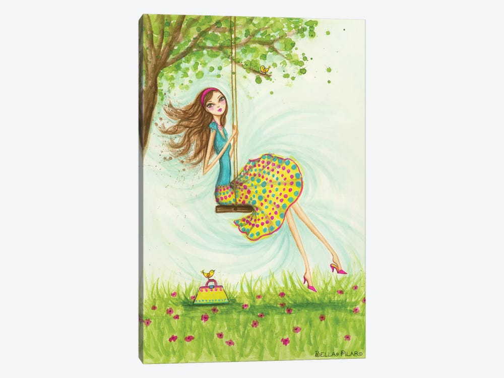 Garden Girls: Swing by Bella Pilar 1-piece Canvas Artwork