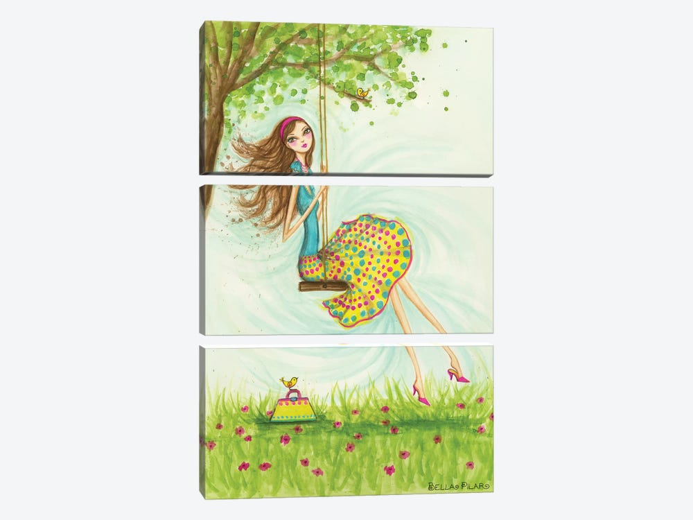 Garden Girls: Swing by Bella Pilar 3-piece Canvas Artwork