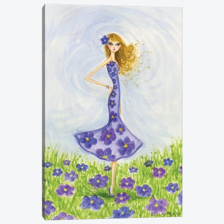 Violet Canvas Print #BPR74} by Bella Pilar Canvas Art