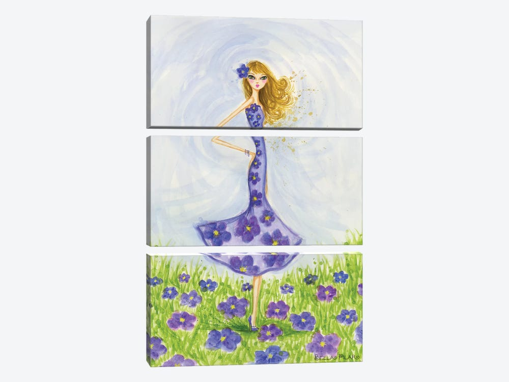 Violet by Bella Pilar 3-piece Art Print