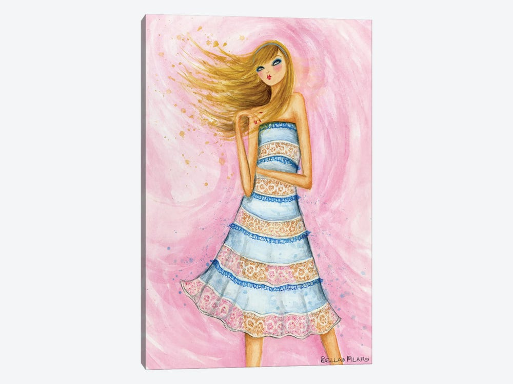 In Style: Blue Lace Dress by Bella Pilar 1-piece Art Print