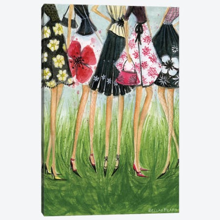 Girls in Skirts  Canvas Print #BPR79} by Bella Pilar Canvas Print