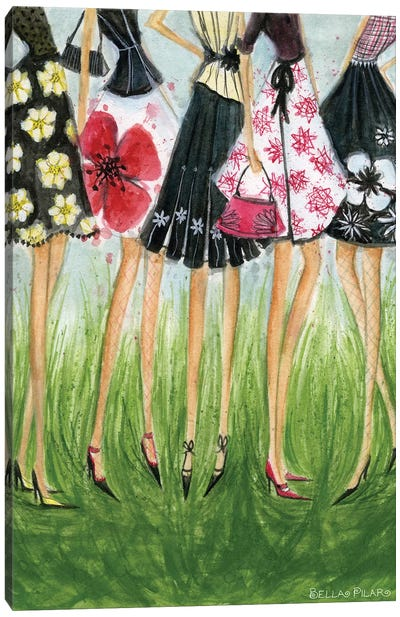 In Style: Girls in Skirts Canvas Art Print
