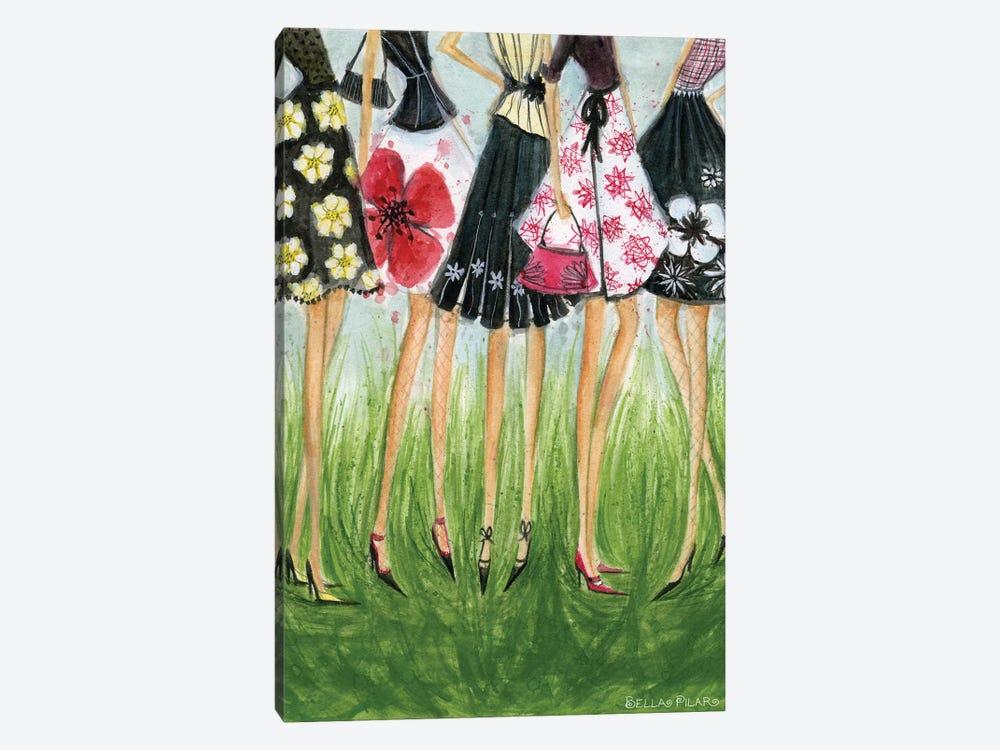 Girls in Skirts  by Bella Pilar 1-piece Canvas Artwork