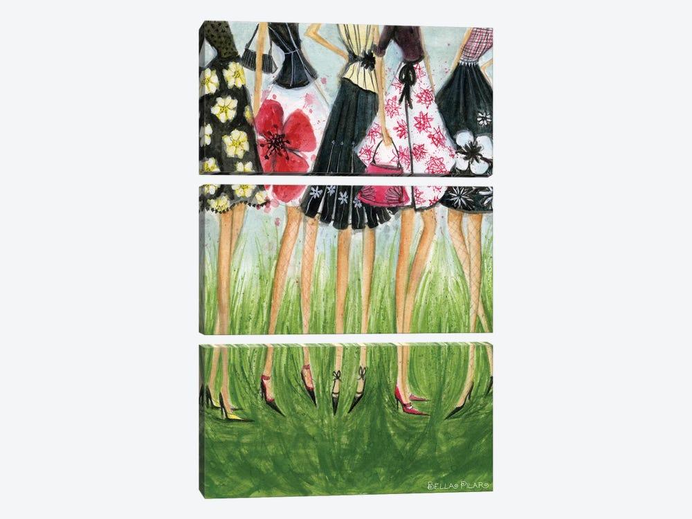 Girls in Skirts  by Bella Pilar 3-piece Canvas Art