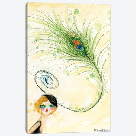 Peacock Hat Canvas Print #BPR82} by Bella Pilar Canvas Wall Art