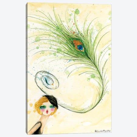 Peacock Hat Canvas Print #BPR82} by Bella Pilar Canvas Wall Art