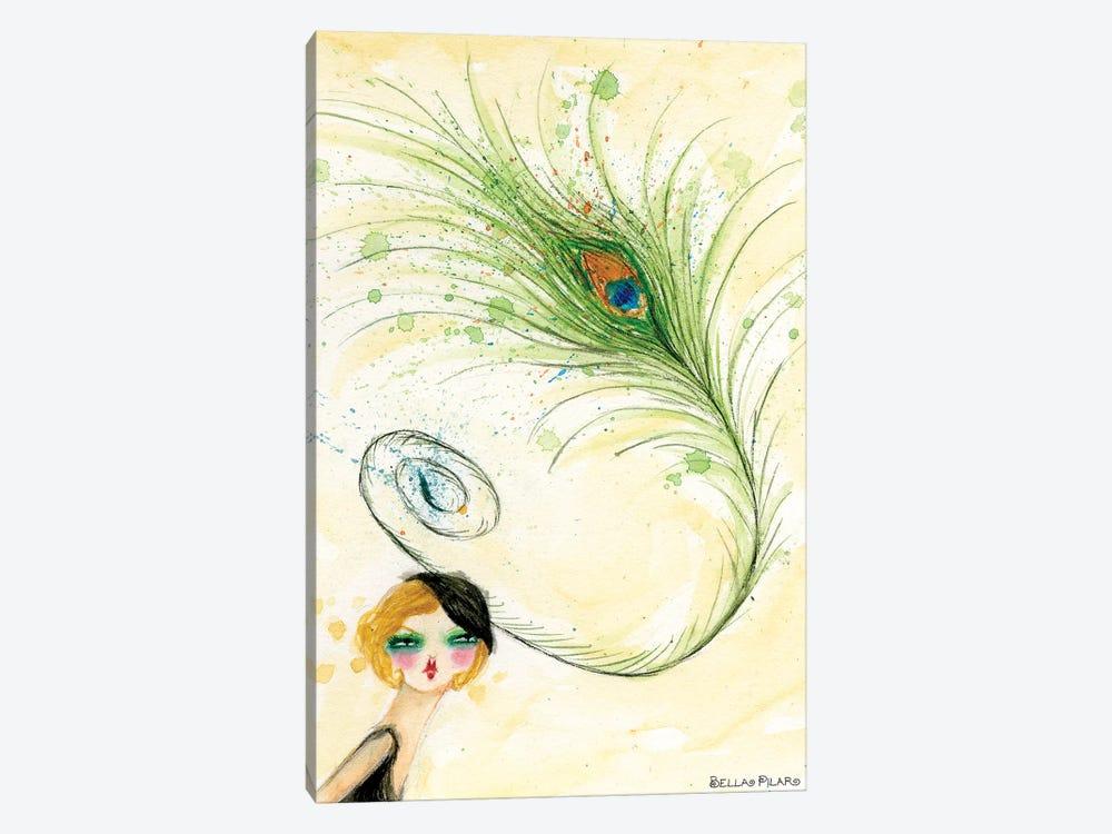 Peacock Hat by Bella Pilar 1-piece Canvas Artwork