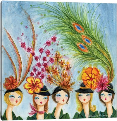 In Style: Spring Hats Canvas Art Print