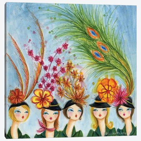 Spring Hats Canvas Print #BPR83} by Bella Pilar Canvas Art