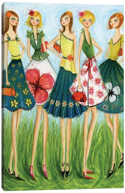 In Style: Spring Skirts Canvas Print #BPR84