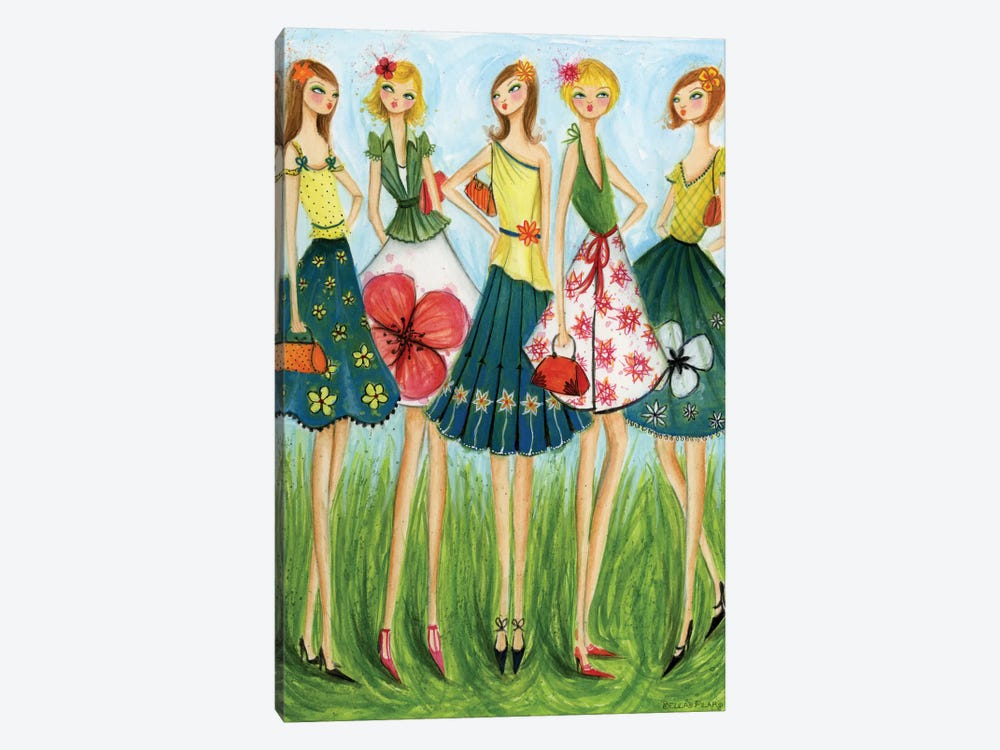 In Style: Spring Skirts by Bella Pilar 1-piece Canvas Artwork