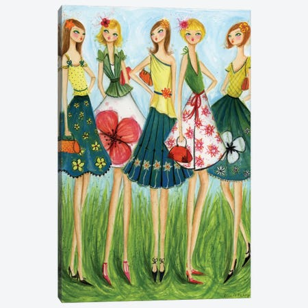 Spring Skirts Canvas Print #BPR84} by Bella Pilar Canvas Print