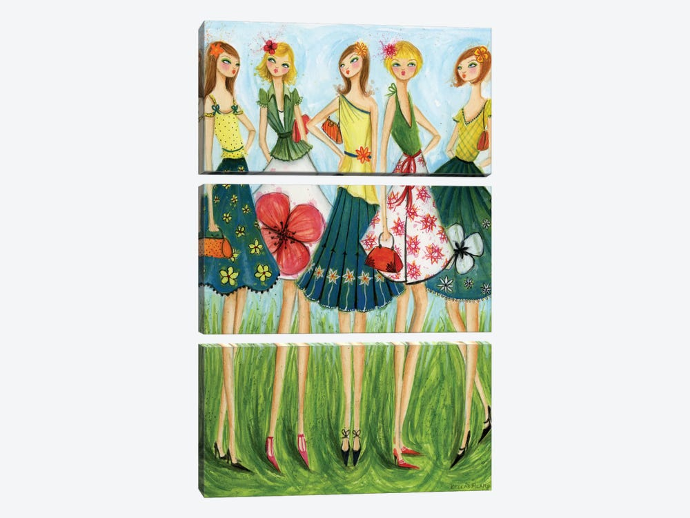 Spring Skirts by Bella Pilar 3-piece Canvas Wall Art