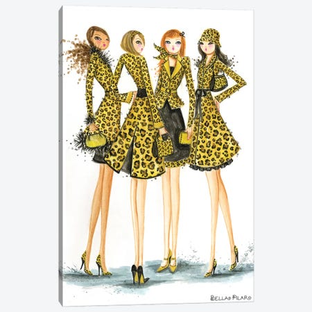 Ladies In Leopard Canvas Print #BPR87} by Bella Pilar Canvas Art Print