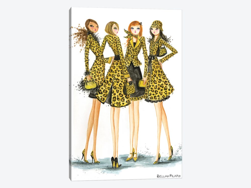 Ladies In Leopard by Bella Pilar 1-piece Canvas Print