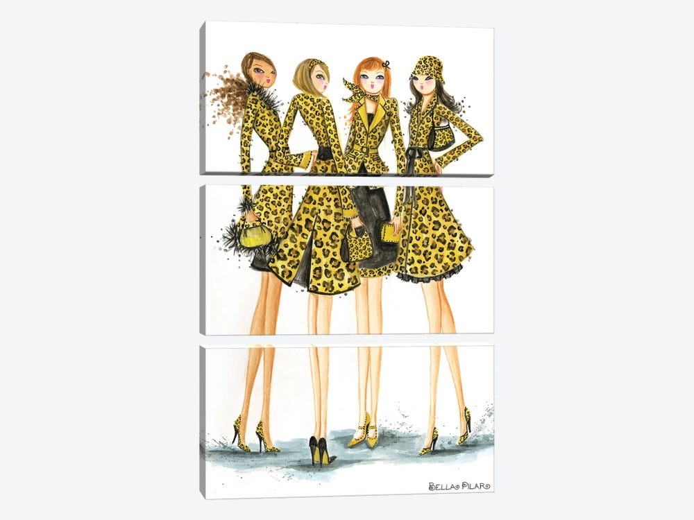 Ladies In Leopard by Bella Pilar 3-piece Canvas Art Print