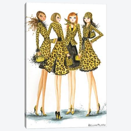 Ladies In Leopard Canvas Print #BPR87} by Bella Pilar Canvas Art Print