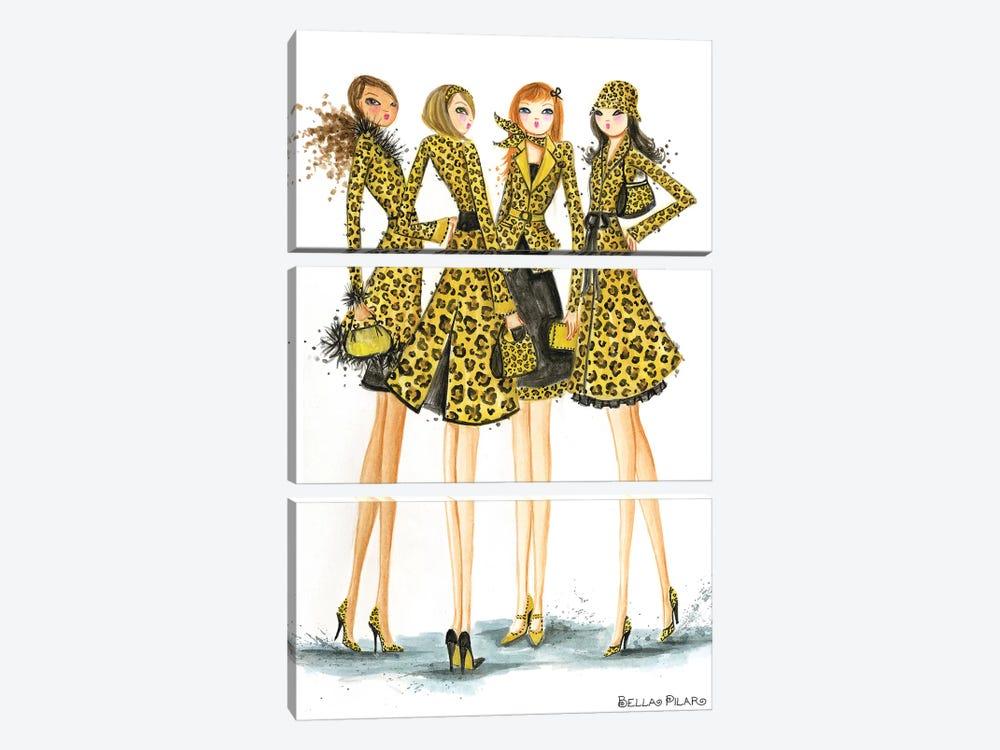 Ladies In Leopard by Bella Pilar 3-piece Canvas Art Print