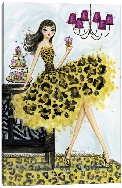 Leopard Cupcake Canvas Print #BPR92