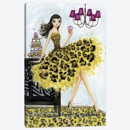 Leopard Cupcake Canvas Print #BPR92} by Bella Pilar Art Print