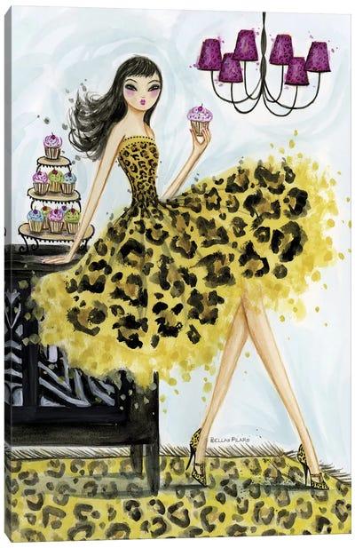 Leopard Cupcake Canvas Art Print
