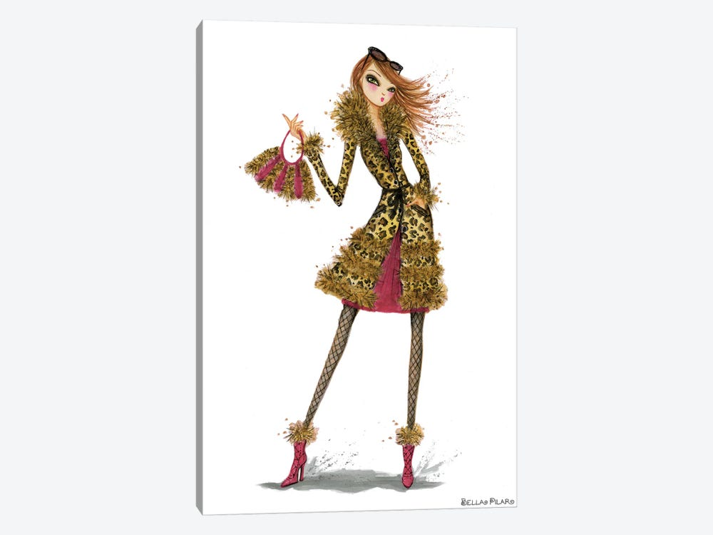 Leopard Lovely by Bella Pilar 1-piece Art Print