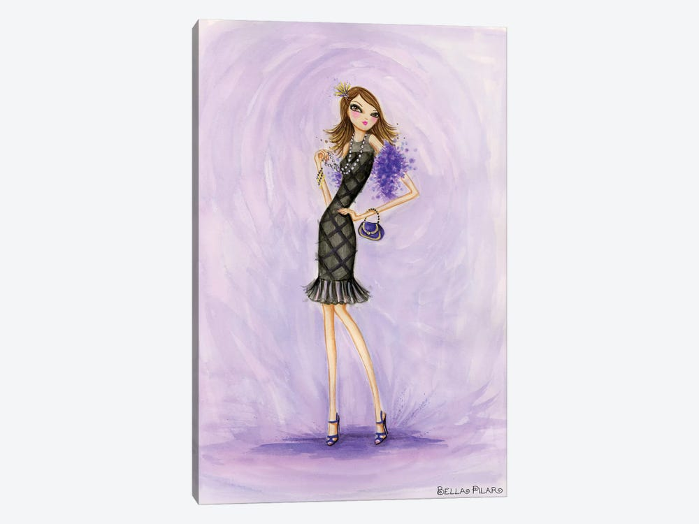Little Black Dress Evening Mom by Bella Pilar 1-piece Art Print