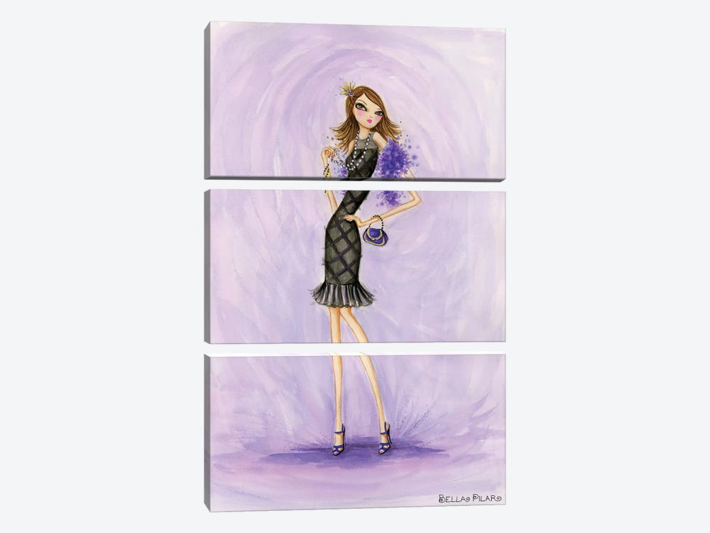 Little Black Dress Evening Mom by Bella Pilar 3-piece Art Print