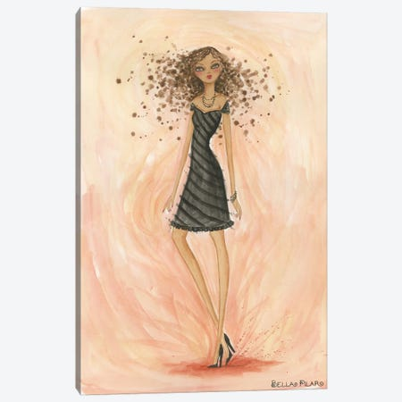Little Black Dress Hope Canvas Print #BPR99} by Bella Pilar Canvas Print