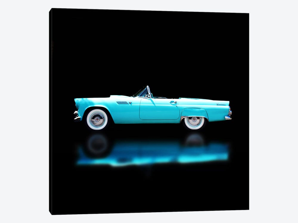 1956 Ford Thunderbird Convertible by Clive Branson 1-piece Canvas Wall Art