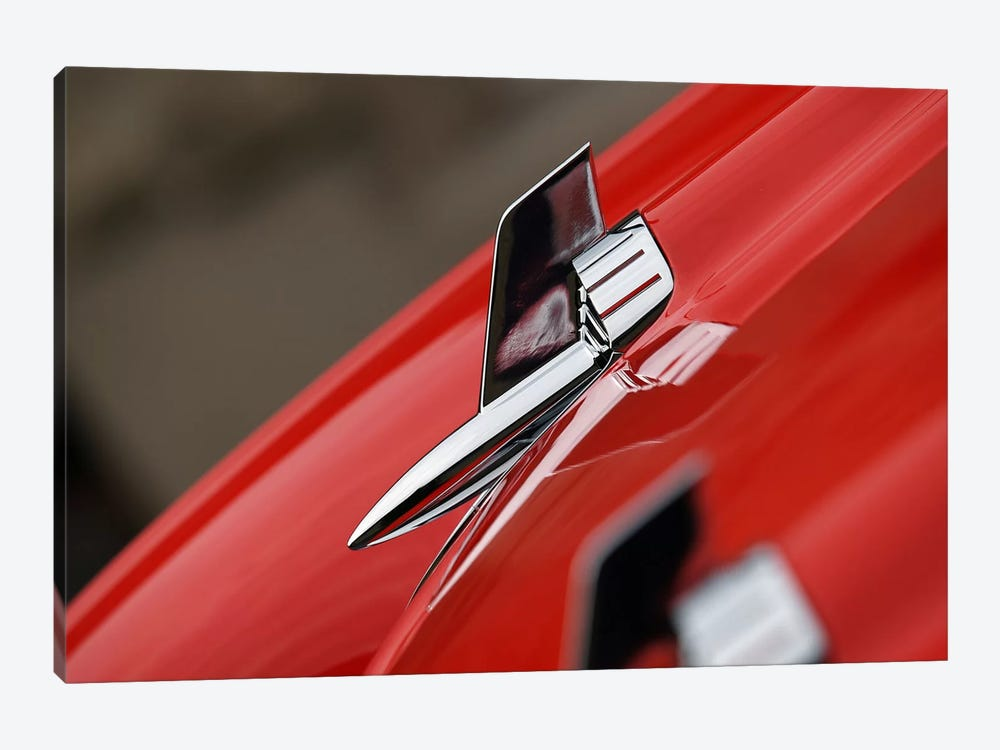 1957 Chevy Bel Air Hood Ornament by Clive Branson 1-piece Canvas Art Print