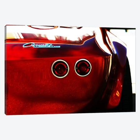 1963 Chevrolet Corvette Stingray, Rear End Canvas Print #BRA14} by Clive Branson Canvas Art