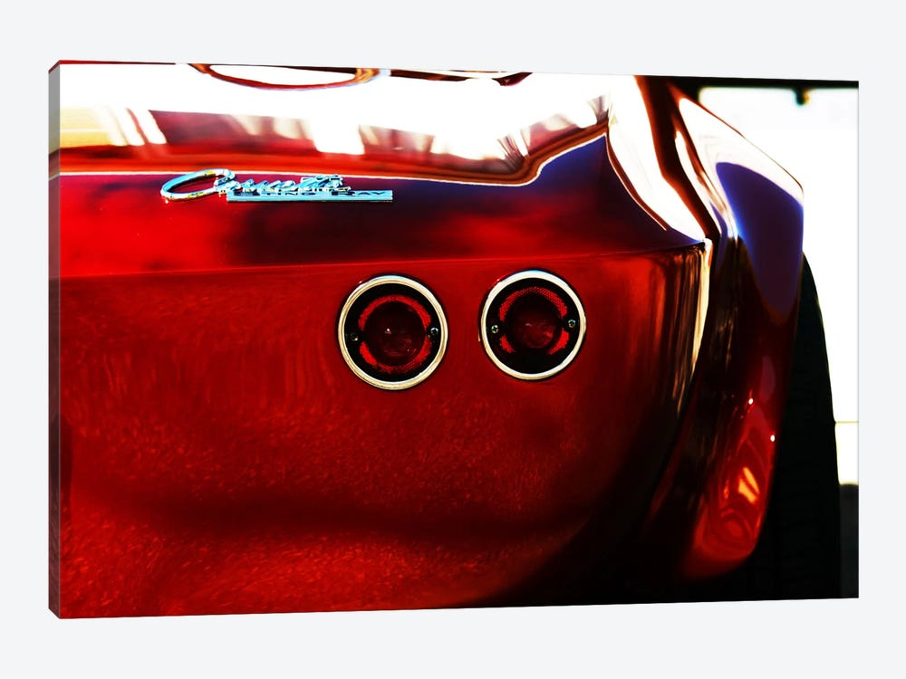 1963 Chevrolet Corvette Stingray, Rear End by Clive Branson 1-piece Canvas Art