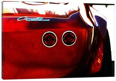 1963 Chevrolet Corvette Stingray, Rear End Canvas Art Print