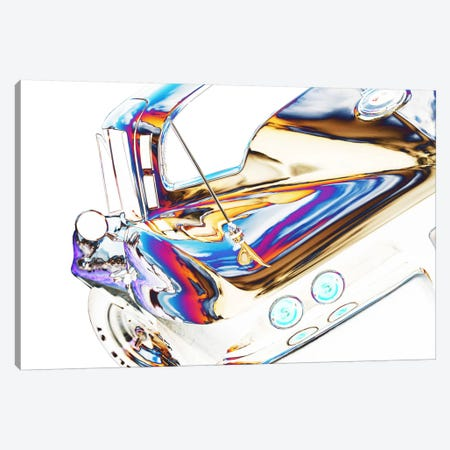 1964 Corvette Stingray, Abstracted Canvas Print #BRA16} by Clive Branson Canvas Artwork