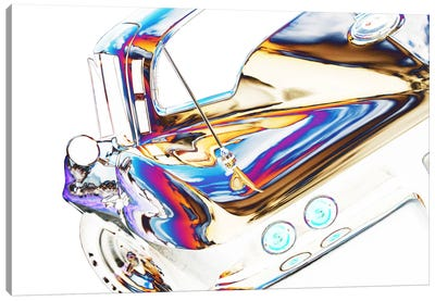 1964 Corvette Stingray, Abstracted Canvas Art Print