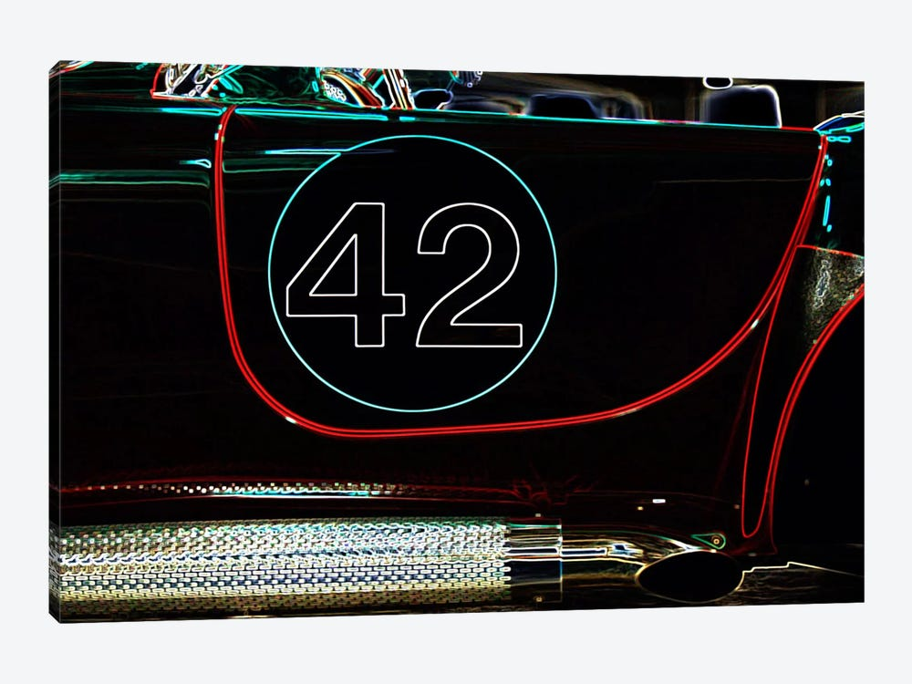 1965 Shelby Cobra 427 Convertible #42 by Clive Branson 1-piece Art Print