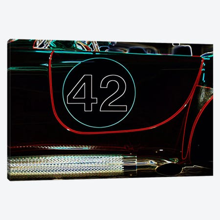 1965 Shelby Cobra 427 Convertible #42 Canvas Print #BRA17} by Clive Branson Canvas Art