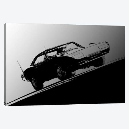 1969 Dodge Daytona, Black & White Canvas Print #BRA18} by Clive Branson Canvas Art Print