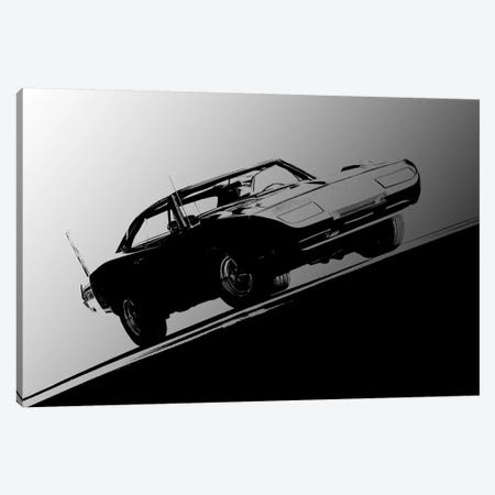 1969 Dodge Daytona, Black & White Canvas Print #BRA18} by Clive Branson Canvas Art Print