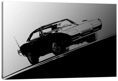 1969 Dodge Daytona, Black & White Canvas Art Print